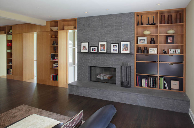 Basement Renovation—Ardsley House Modern Living Room by Eisner Design Modern