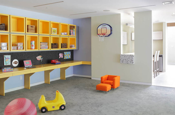 Basement Renovation—Ardsley House Modern Kid's Room by Eisner Design Modern