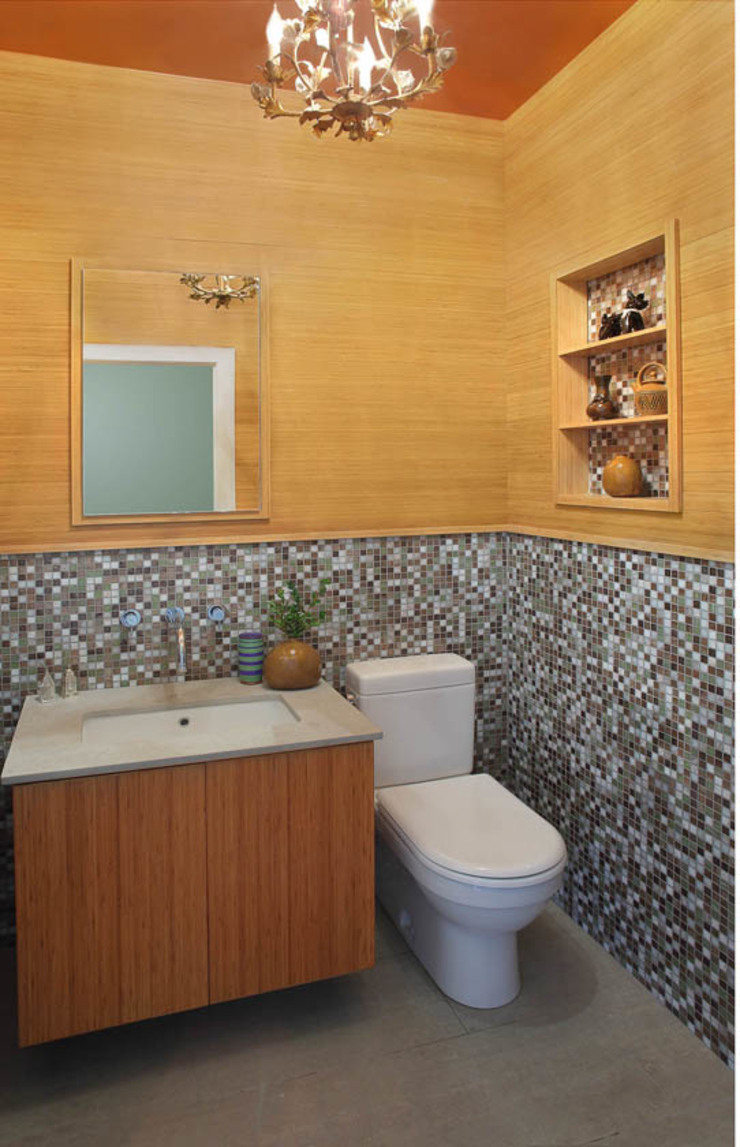 Basement Renovation—Ardsley House Modern Bathroom by Eisner Design Modern