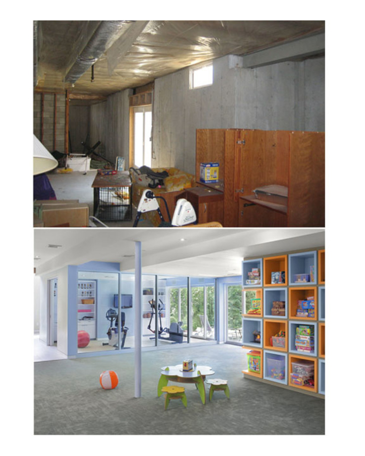 Basement Renovation - Ardsley House Modern Kid's Room by Eisner Design Modern