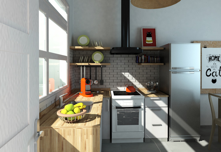 Built-in kitchens by Dsg Arquitectura ,