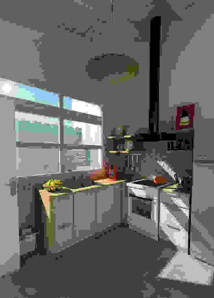 現代廚房設計點子、靈感&圖片 根據 Dsg Arquitectura 現代風 木頭 Wood effect