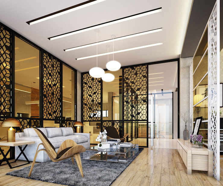 Interior Design Office Trinex Porperty: ทันสมัย  โดย Glam interior- architect co.,ltd, โมเดิร์น กระจกและแก้ว