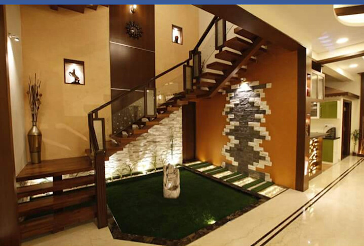 Modern Corridor, Hallway and Staircase by montimers Modern