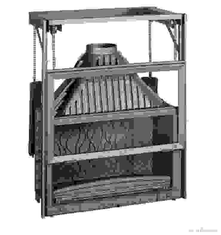 Invicta Grande Vision 90 lık Asansörlü Hazne Alpina Şömine Endüstriyel Demir/Çelik
