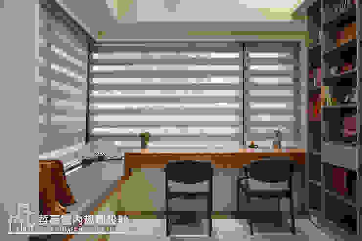 閱讀休憩空間 根據 哲嘉室內規劃設計有限公司 簡約風