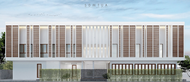 Thai tropical modern design Hostel project โดย somtua archiect and design