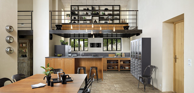 Schmidt Kitchens Barnet의  주방, 러스틱 (Rustic)
