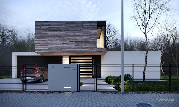 Front view by STOPROCENT Architekci