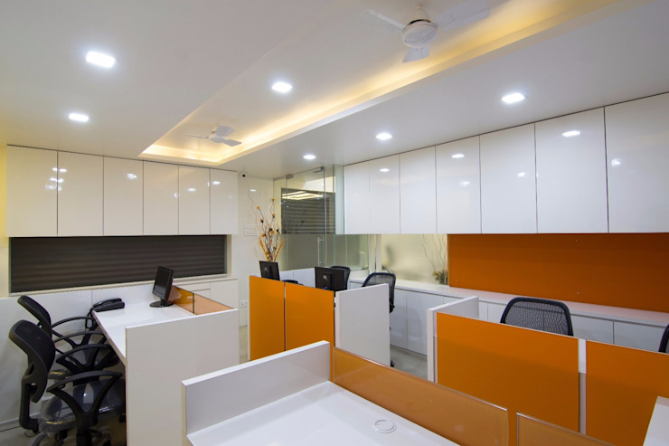 Workstation 3 Modern office buildings by A A Studio Architects Modern
