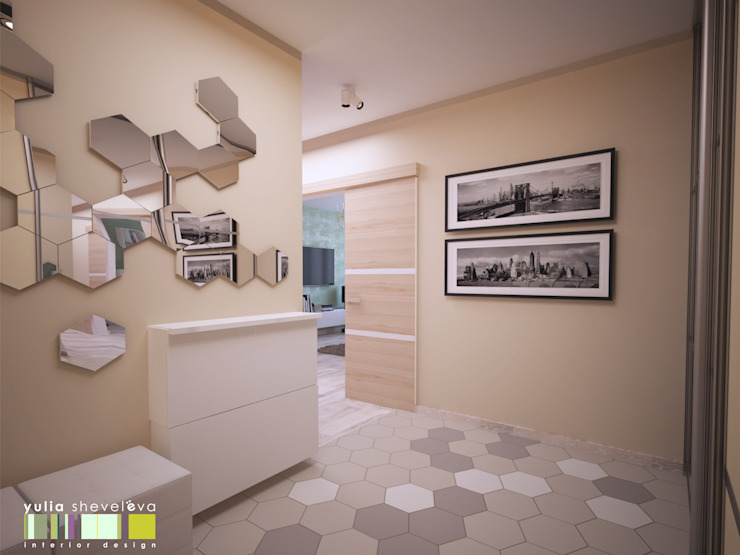 Koridor & Tangga Minimalis Oleh Мастерская интерьера Юлии Шевелевой Minimalis