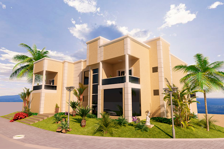 Casas de estilo  por Vitruvius 3D, Moderno Concreto