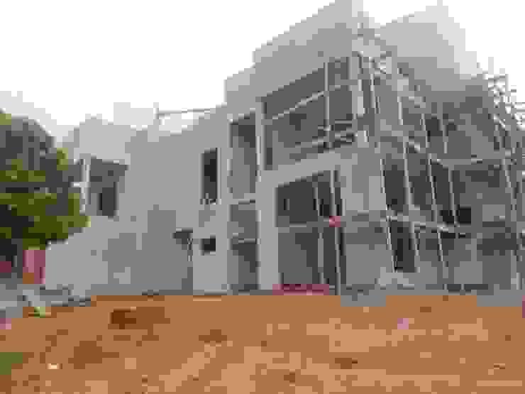 Construção - obras Vitruvius 3D Casas modernas Concreto Cinza