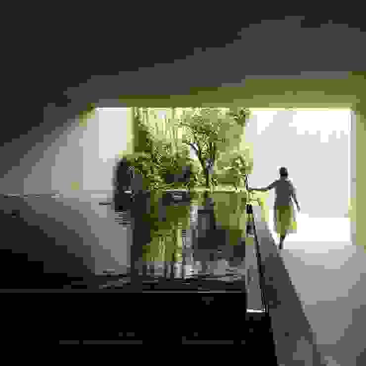 Jardines AGi architects arquitectos y diseñadores en Madrid Jardines de estilo moderno Beige