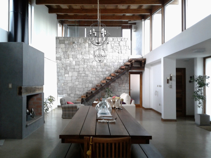 Viviendas Loteo Las Lavandas Livings modernos: Ideas, imágenes y decoración de Azcona Vega Arquitectos Moderno