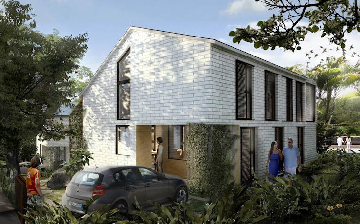 Casas de estilo  por SUPERFICIES Estudio de arquitectura y construccion, Tropical