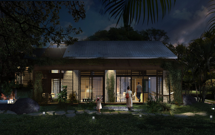 Houses by SUPERFICIES Estudio de arquitectura y construccion, Tropical