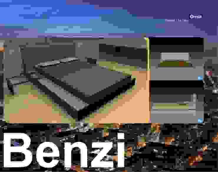 Camas y Dormitorios de Domicilio Ecléctico Compuestos de madera y plástico