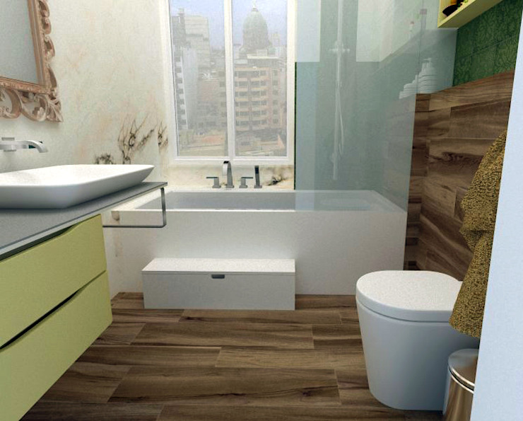 Un Baño con Mucho Estilo de A3 Interiors
