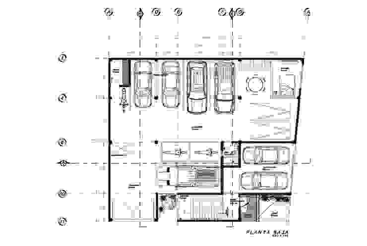Planta Baja del Proyecto Recámaras eclécticas de HF Arquitectura Ecléctico Ladrillos