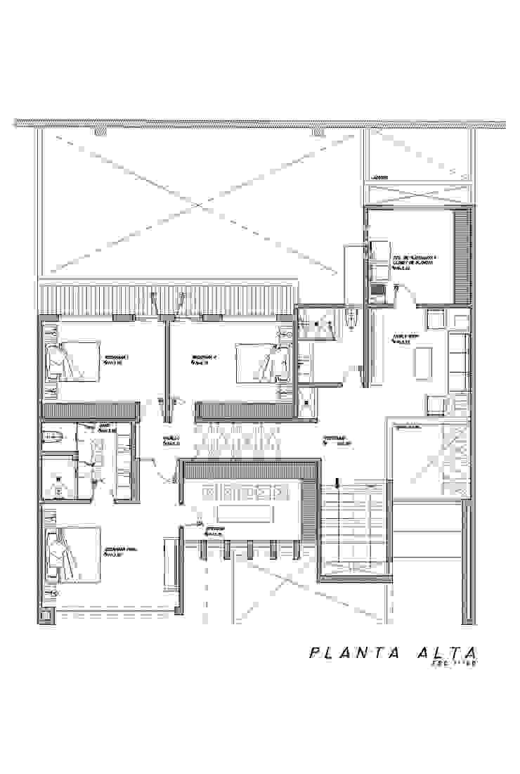 Planta Alta Dormitorios minimalistas de HF Arquitectura Minimalista