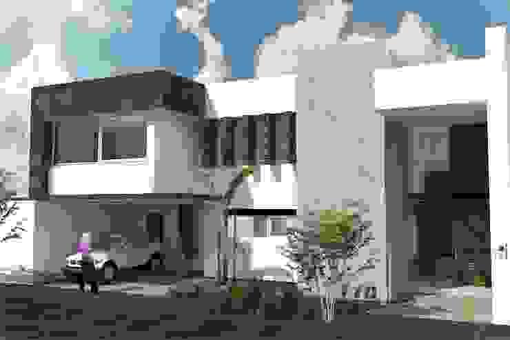Fachada Principal Casas minimalistas de HF Arquitectura Minimalista Concreto