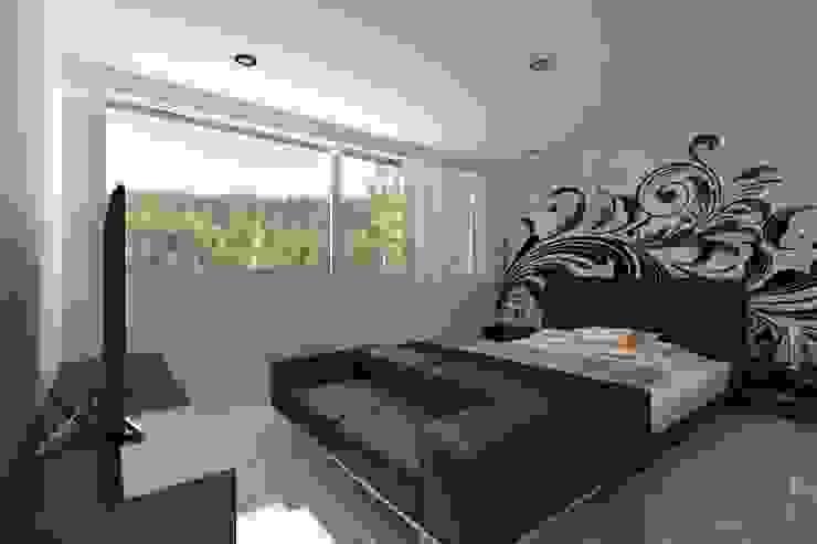 Recamara Principal Dormitorios minimalistas de HF Arquitectura Minimalista Cerámico