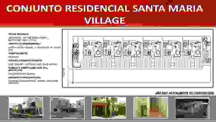 CONJUNTO RESIDENCIAL SANTA MARIA VILLAGE ARQUITECTURA DIGITAL Casas modernas Concreto Verde
