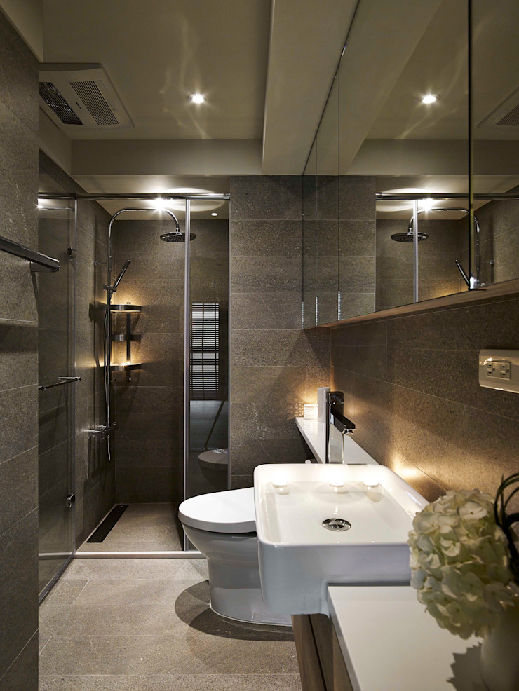 淡水許宅 現代浴室設計點子、靈感&圖片 根據 晨室空間設計有限公司 現代風