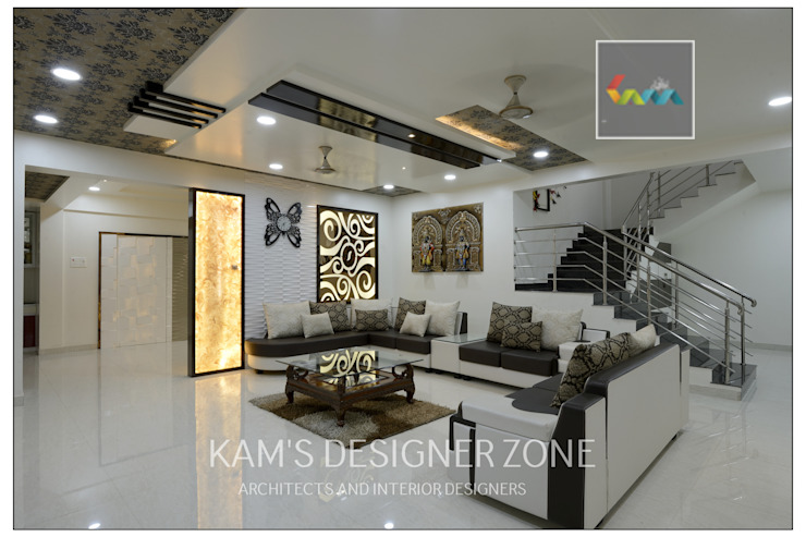 Living Room Design: classic  by KAM'S DESIGNER ZONE,Classic