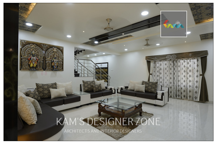 Living Room Design: colonial  by KAM'S DESIGNER ZONE,Colonial