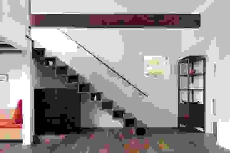 展望室への階段 久保田章敬建築研究所 モダンスタイルの 玄関&廊下&階段 木