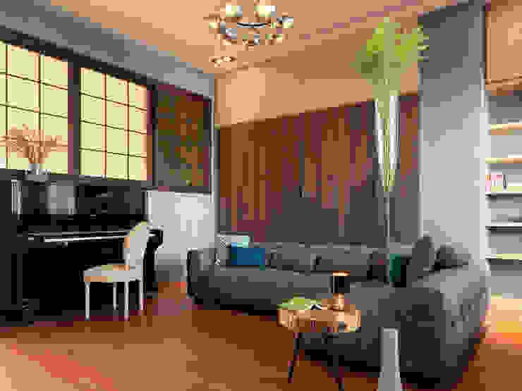 Eklektyczny salon od 賀澤室內設計 HOZO_interior_design Eklektyczny