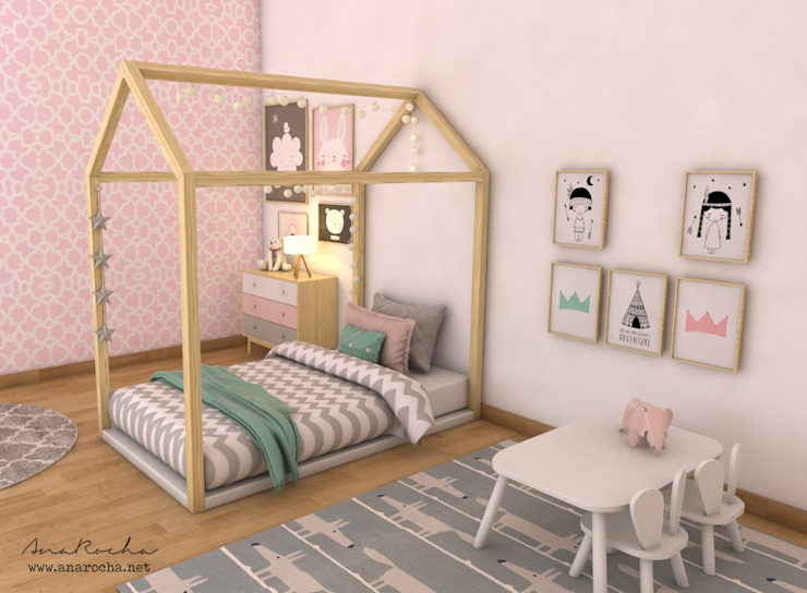 Scandinavian style nursery/kids room by homify Scandinavian Wood Wood effect