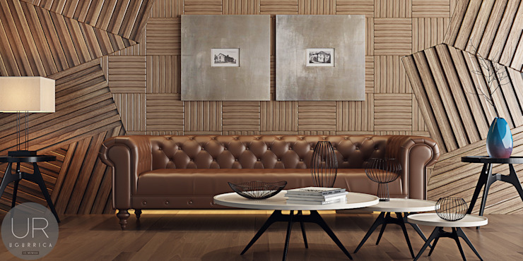 Living room by Uğur RİCA İÇ MİMARLIK, Modern Wood Wood effect