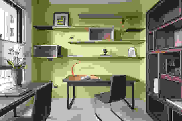 |坤山TC宅|:  書房/辦公室 by 賀澤室內設計 HOZO_interior_design, 現代風