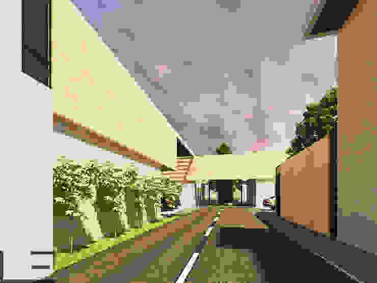HABITACIONAL EL ROBLE II - DEPARTAMENTOS Casas modernas de LARA ESCALANTE ARQUITECTURA Y CONSTRUCCIÓN Moderno Aglomerado