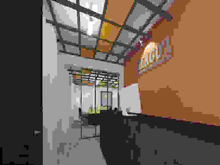 OFICINAS H - RECEPCIÓN Estudios y despachos modernos de LARA ESCALANTE ARQUITECTURA Y CONSTRUCCIÓN Moderno Concreto