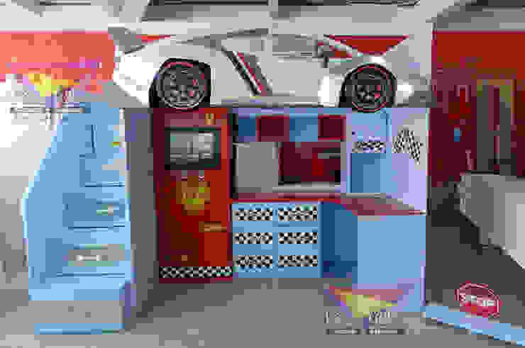 Fantástica cama alta estilo Lamborghini de Kids Wolrd- Recamaras Literas y Muebles para niños Moderno Derivados de madera Transparente