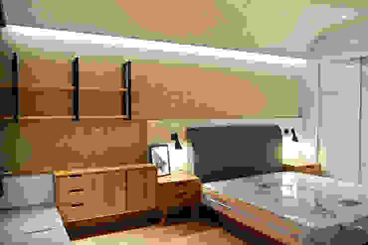 Dormitorios de estilo escandinavo de 鹿敘空間設計 Escandinavo