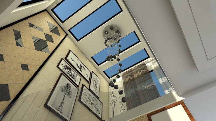 Staircase ceiling by Ar. Ananya Agarwal