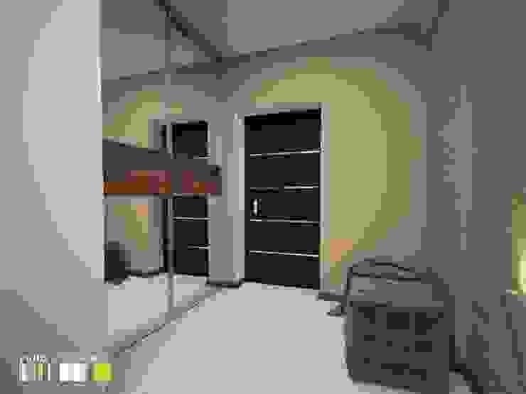 Pasillos, vestíbulos y escaleras de estilo minimalista de Мастерская интерьера Юлии Шевелевой Minimalista