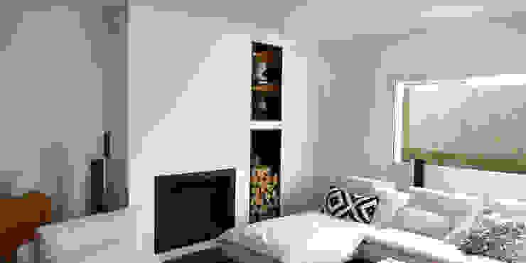 Maison M.F: Salon de style  par Ophélie Dohy architecte d'intérieur, Moderne Fer / Acier