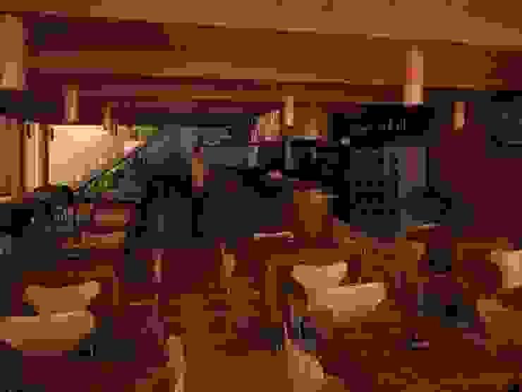 Vista desde la Cafetería Gastronomía de estilo moderno de GALICIA AV Arquitectura más Virtual Moderno