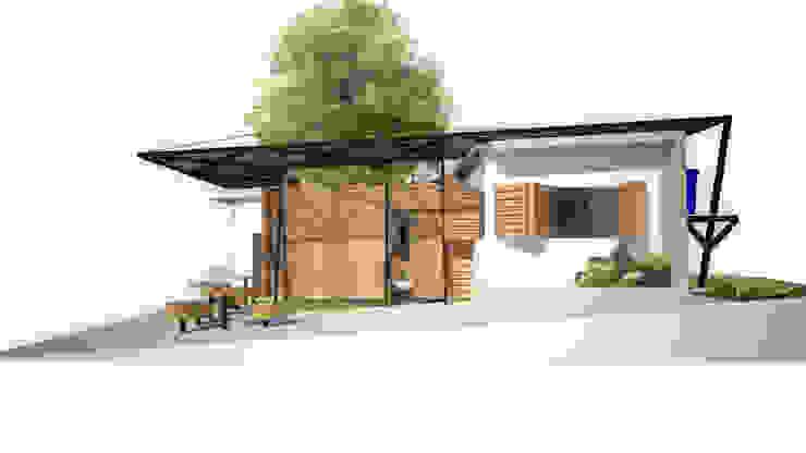 Fachada Vivienda Casas de estilo minimalista de Taller de Desarrollo Urbano Minimalista