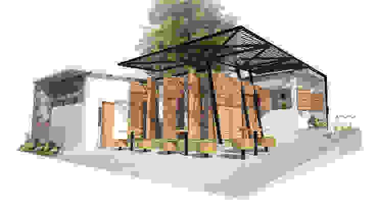 Perspectiva comedor social Casas de estilo minimalista de Taller de Desarrollo Urbano Minimalista