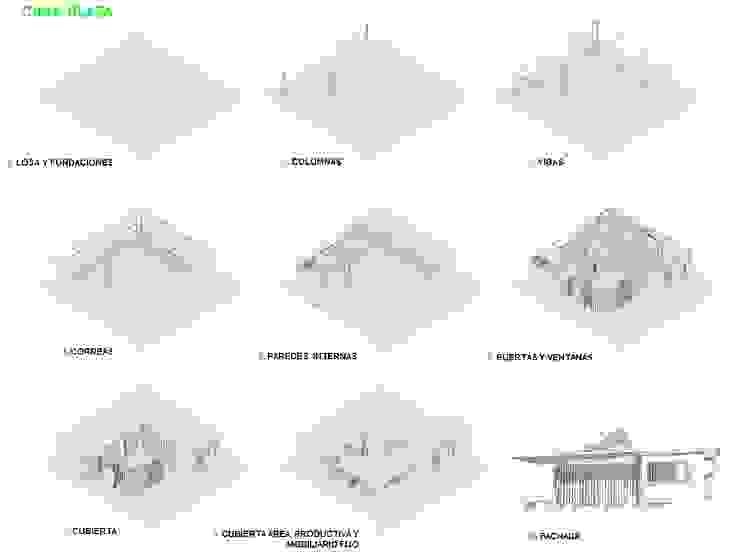 Procesos constructivos Casas de estilo minimalista de Taller de Desarrollo Urbano Minimalista