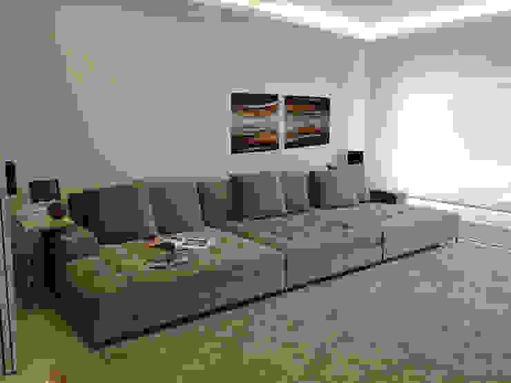 Salas multimedia de estilo  por Priscila Boldrini Design e Arquitetura
