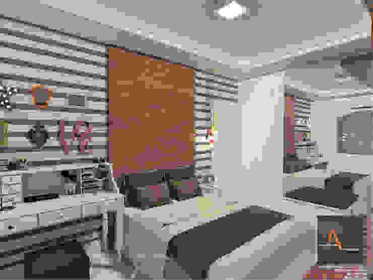 Dormitorios modernos de homify Moderno Tablero DM