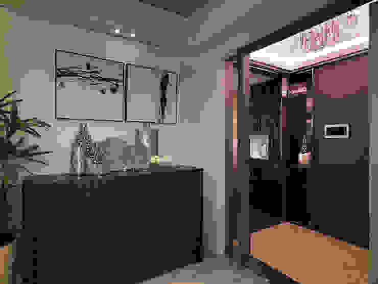 單身50坪~粉領就愛奢華風 經典風格的走廊,走廊和樓梯 根據 大集國際室內裝修設計工程有限公司 古典風
